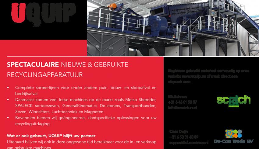 Recyclepro Uquip advertentie