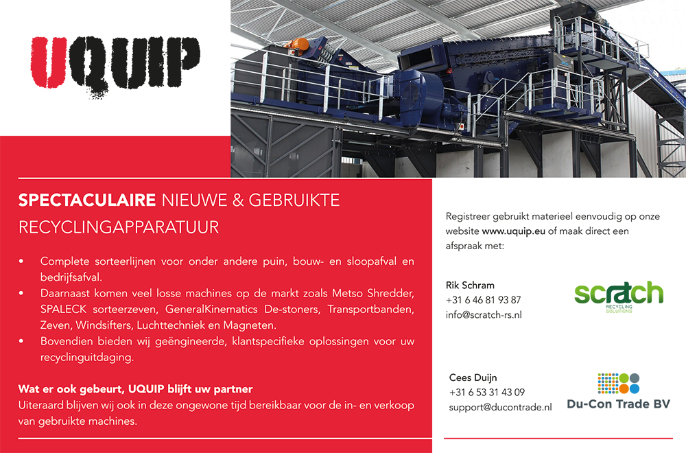Recyclepro Uquip advertentie